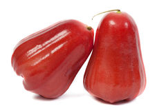 Rose apples love on white background. Royalty Free Stock Image