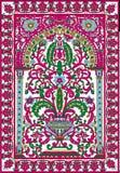 Rose arabe de fleur de fresca de tuile photographie stock