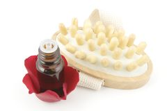 Rose aromatherapy and masager Stock Images