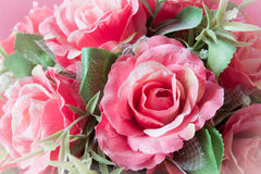 Rose, artificial flowers Stock Photo