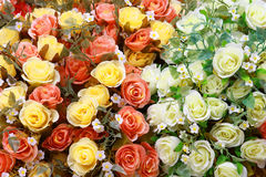 Rose Artificial Flowers for background Stock Images