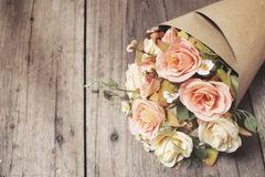 Rose artificial flowers Royalty Free Stock Images
