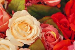 Rose artificial flowers Royalty Free Stock Photo