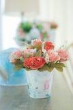 Rose, artificial flowers bouquet. Stock Image