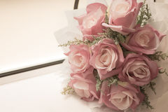 Rose, artificial flowers bouquet. Royalty Free Stock Images