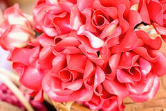 Rose artificial flowers Royalty Free Stock Image