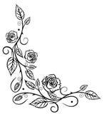 Rose astratte, foglie Immagine Stock