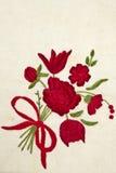 Rose auf Baumwollhintergrund stockbild