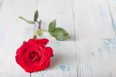 Rose auf den Brettern Lizenzfreies Stockbild