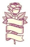 Rose avec le ruban illustration stock