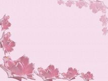 Rose background. A pink paper with some roses as decoration for a pastel background Royalty Free Stock Photography