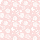 Rose background. Decorative pattern of pink roses Royalty Free Stock Photo