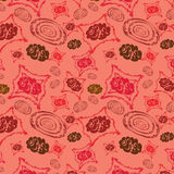 Rose background with abstract figures Royalty Free Stock Image