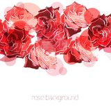 Rose background. Floral abstract pattern Royalty Free Stock Image