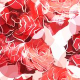 Rose background. Floral abstract pattern Stock Photography