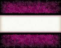 Rose background with frame Stock Photography