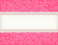 Rose background with frame Royalty Free Stock Image
