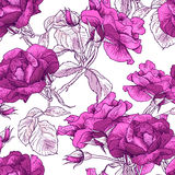 Rose Background inconsútil hermosa stock de ilustración