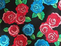 Rose background quilt fabric Royalty Free Stock Photos