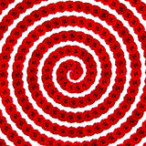 Rose background : Red natural rose seamless spiral  background. Stock Photography