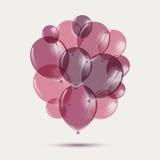 Rose Balloons Illustration de Vecteur