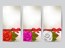Rose banners Royalty Free Stock Images