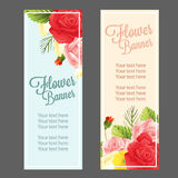 Rose banners Royalty Free Stock Photos