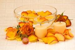 Rose bath Royalty Free Stock Photo