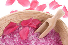 Rose bath items Royalty Free Stock Photo