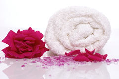 Rose bath items Stock Image