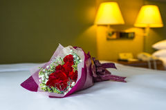 Rose on Bed Royalty Free Stock Photo