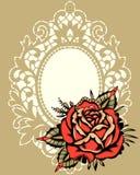 Rose Beige Lace Frame roja libre illustration