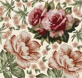 Rose. Bello fondo con un orname del fiore illustrazione di stock