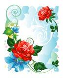 Rose_birthday_frame Royalty Free Stock Photos