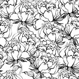 Rose blüht nahtlosen Hintergrund Stockfotografie