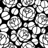 Rose blüht nahtlosen Hintergrund Lizenzfreies Stockbild