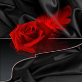 Rose on black Royalty Free Stock Image