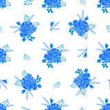 Rose blue cute pattern-01 Royalty Free Stock Photography