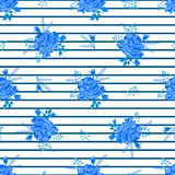 Rose blue cute pattern striped-01 Royalty Free Stock Photos