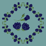 Rose Blue Vector Illustration and Design. On Background Stock Images