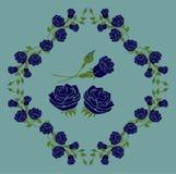 Rose Blue Vector Illustration en Ontwerp Stock Afbeeldingen