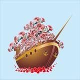 Rose in boat Stock Photo