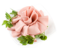 Rose from boiled sausage Stock Images