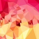 Rose Bonbon Pink Abstract Low-Veelhoekachtergrond Stock Afbeeldingen
