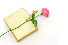 Rose in a book Stock Photography