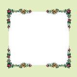 Rose border. Background with floral frame, border.Invitation floral card vector illustration