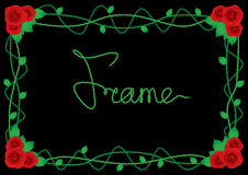 Rose border frame Royalty Free Stock Image