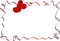 Rose border. An irregular border with red rose hearts Royalty Free Stock Photo