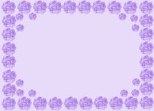 Rose border lavender Royalty Free Stock Photography