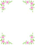 Rose border / wedding invitation Royalty Free Stock Image